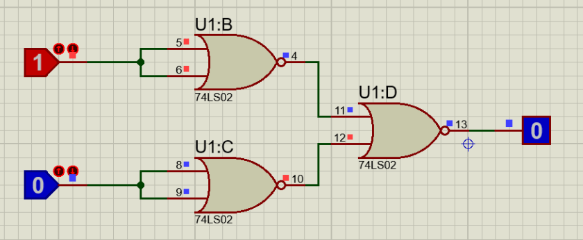 AND gate using 74LS02