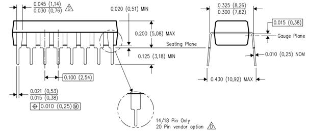 ULN2003 2D Diagram