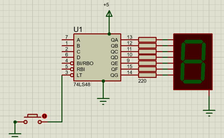 74LS48 interfacing with Seven Segments
