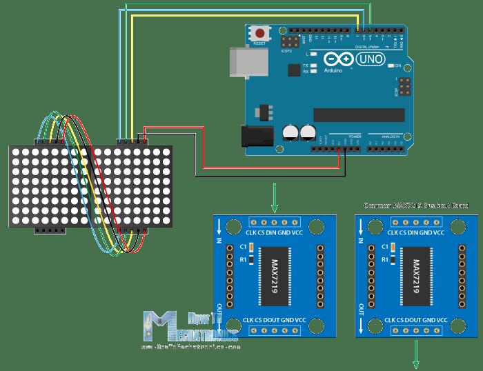 1388A 8X8 LED Matrix Module with Arduino