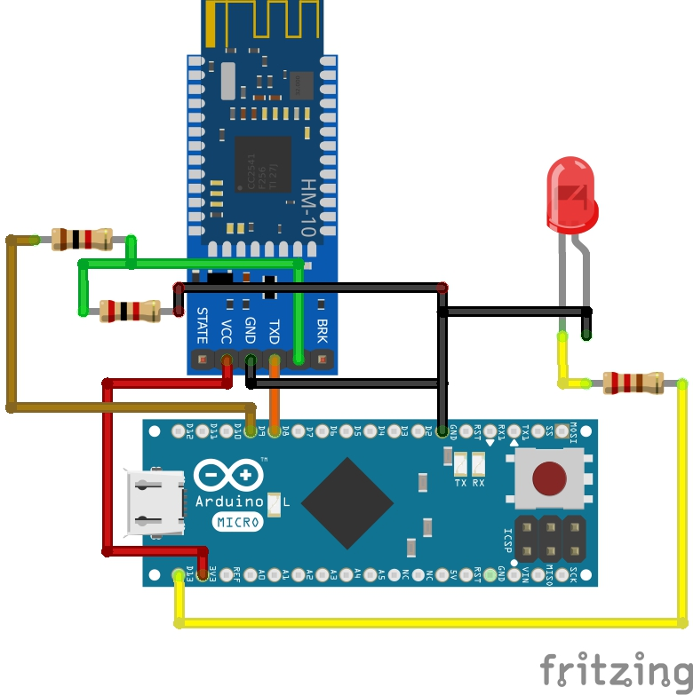 HM-10 Bluetooth Module interfacing with arduino nano example with LED