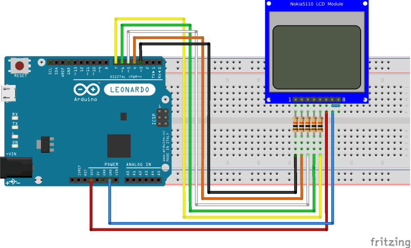 Nokia 5110 LCD with Arduino