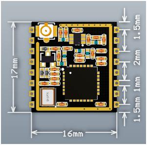 SX1278 LoRa RF Module 2D diagram
