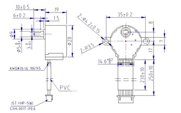 Stepper Motor 2D Diagram
