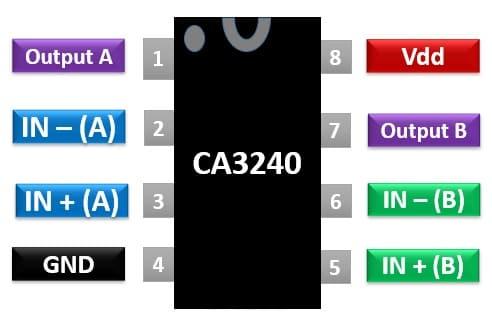 CA3240 pinout diagram