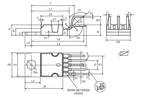 Audio Amplifier 2D Diagram