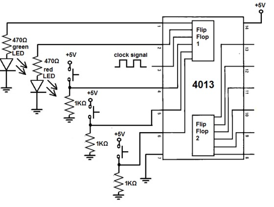 HEF4013 Example Circuit