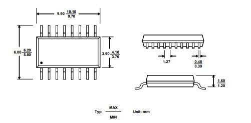 HX711 2D Diagram