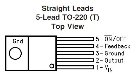 LM2576 Pinout diagram Buck Voltage Regulator