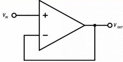 LM4558 voltage follower circuit example