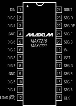 MAX7219 pinout diagram