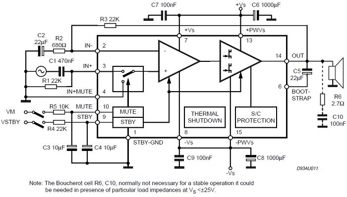TDA7294 Simple Example