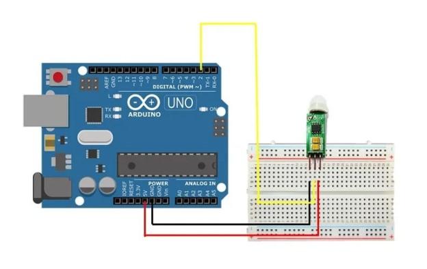 hc-sr505 interfacing with Arduino