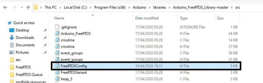How to delete Task with FreeRTOS API using Arduino