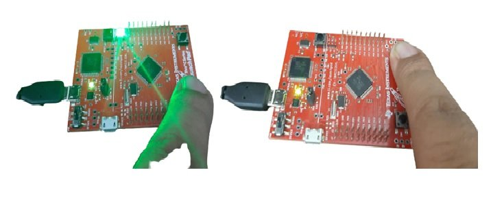 TM4C123 GPIO Interrupts example with push button negative edge triggered