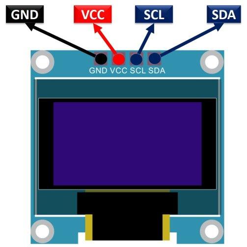 OLED pinout diagram