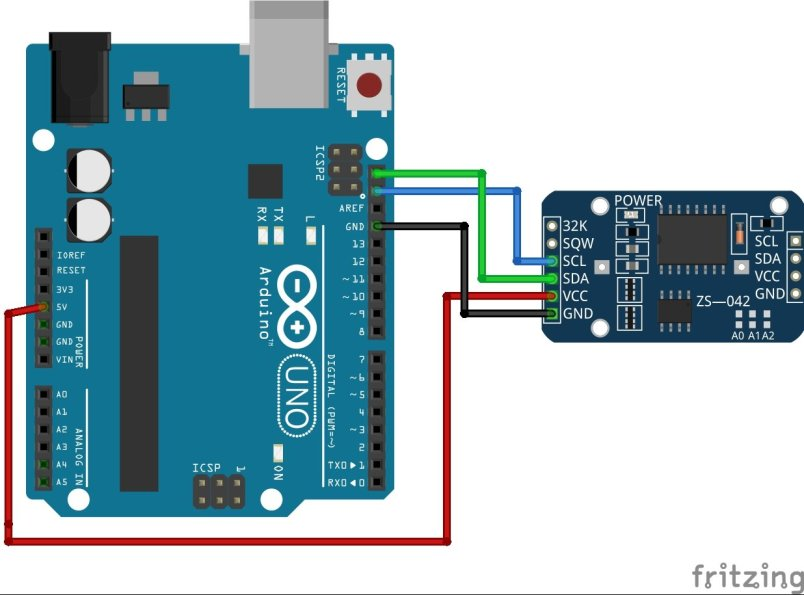 DS3231 RTC Module interfacing with Arduino