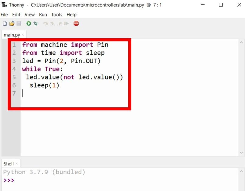 Create new file thonny IDE 1