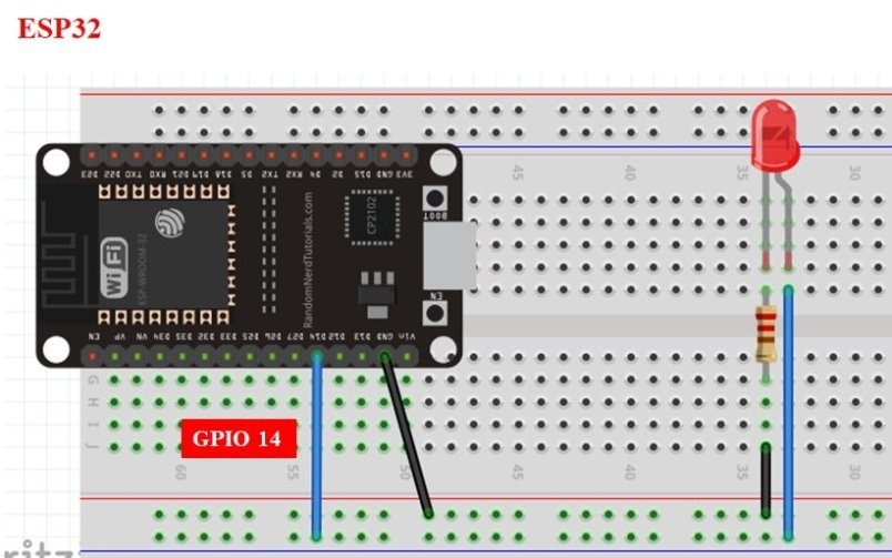 MicroPython Timers ESP32 generate delay example