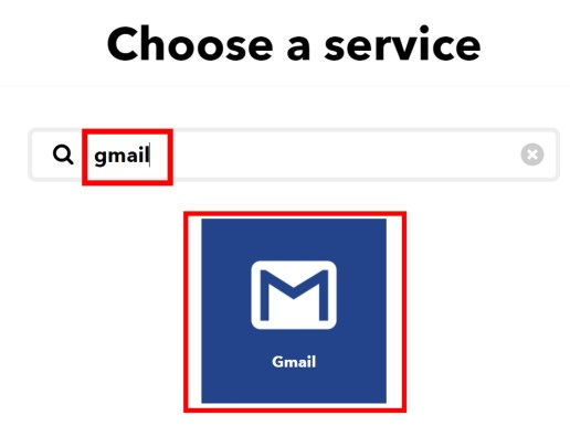 IFTTT create gmail service 11