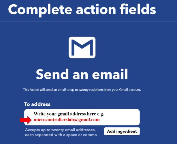 IFTTT create gmail service 14