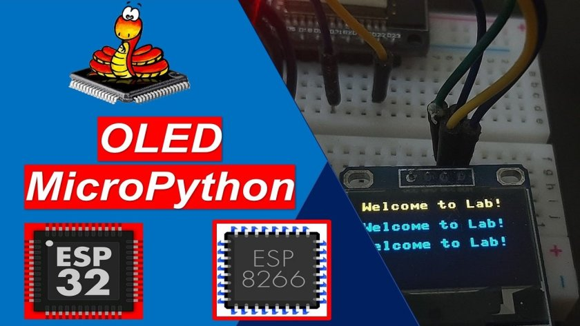 MicroPython OLED Display with ESP32 and ESP8266