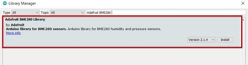 Adafruit BME280 library Arduino IDE