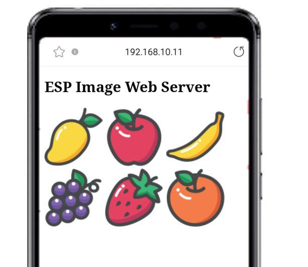 ESP image web server SPIFFS demo web page