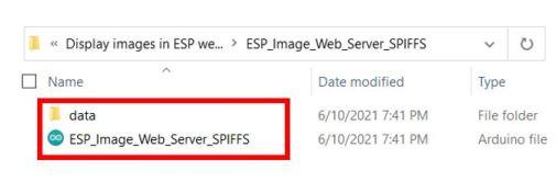 ESP image web server SPIFFS upload images2