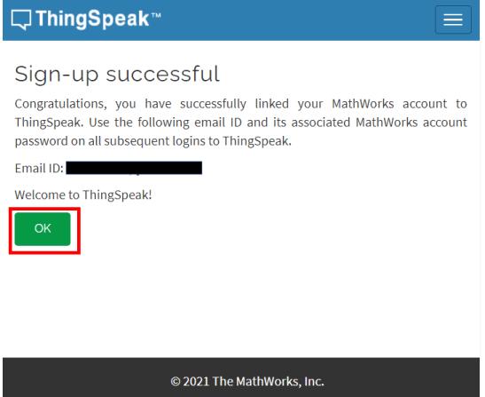 ESP32 HTTP POST ThingSpeak account successful