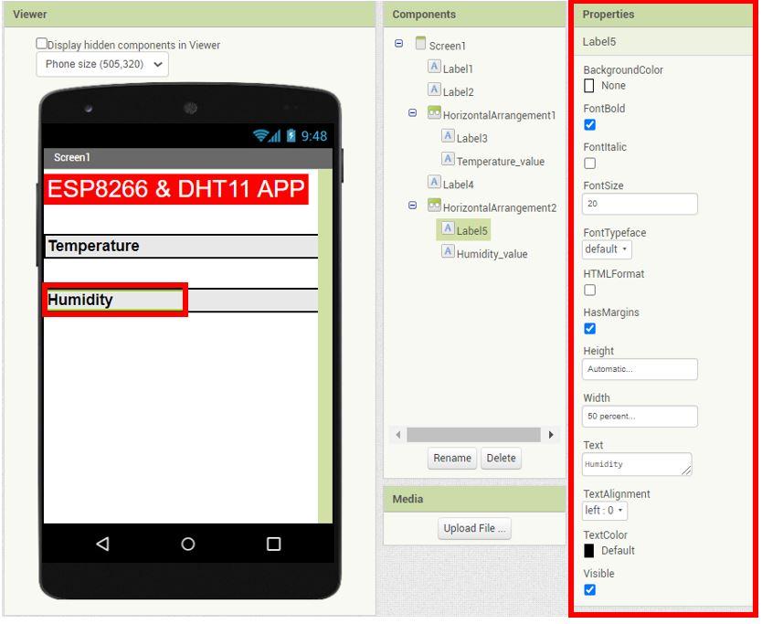 ESP8266 Google Firebase build your own app MIT Inventor 11