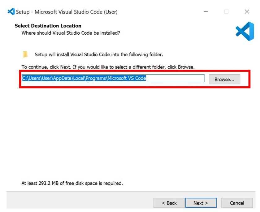 VS Code installation 3