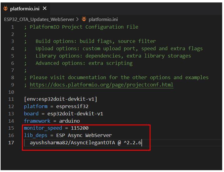 ESP32 OTA Updates VS Code Example1 no2