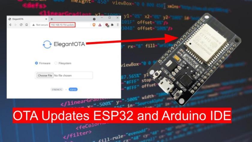 ESP32 OTA updates AsyncElegantOTA using Arduino IDE
