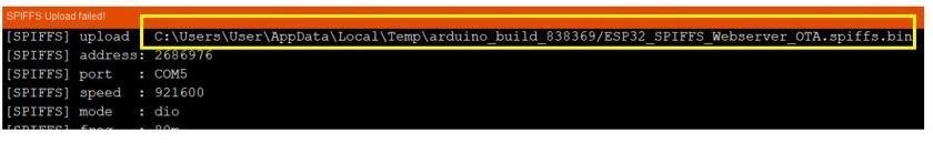 ESP32 OTA updates via AsyncElegantOTA example3 pic1