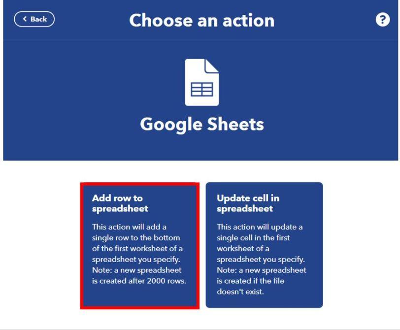 Publish sensor readings to Google Sheets IFTTT3