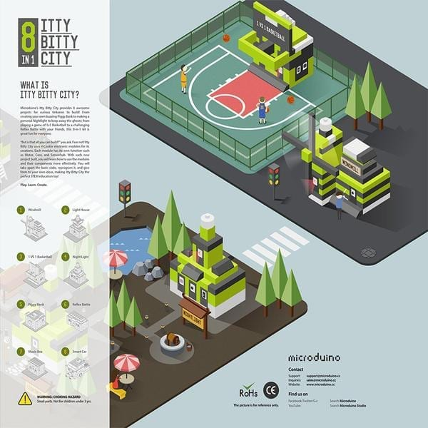 Itty Bitty City - Microduino
