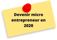 devenir micro entrepreneur en 2020