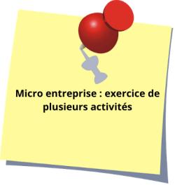 Micro entreprise : exercice de plusieurs activités