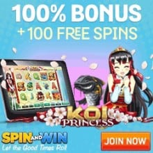 Spin and Win - 200 free spins and £1000 free casino bonus
