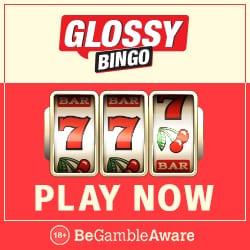 Glossy Bingo UK Casino - 50 free spins and £300 free cash bonus