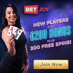 BETJOY - 200 Free Spins and No Deposit Bonus - Casino & Sportsbook