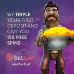 BETSPIN CASINO – 150 gratis spins and €400 bonus chips (promo codes)