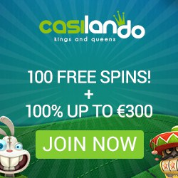 Casilando Casino €300 gratis and 100 free spins - no deposit bonus