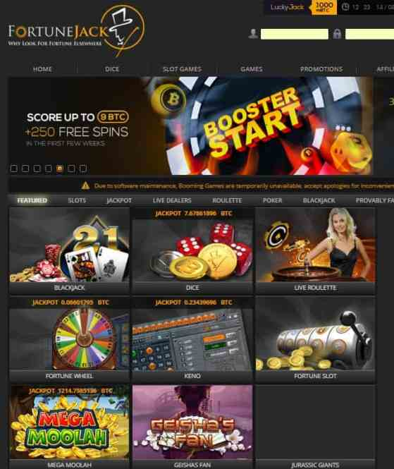 Fortune Jack Casino Review