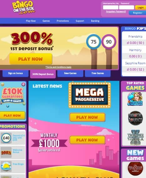 Bingo On the Box Microgaming Casino