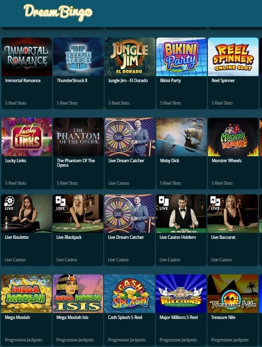 Dream Bingo Casino Review