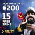 EnergyCasino 70 free spins & €400 free bonus – no deposit required