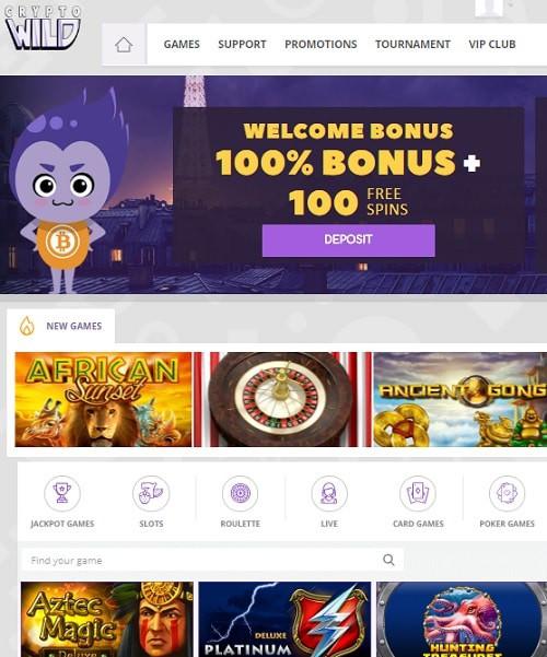 Cyrpto Wild Casino free games bitcoins