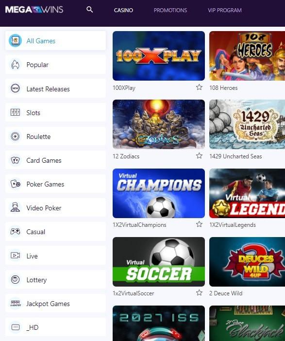 Mega Wins Casino Free Spins Bonus